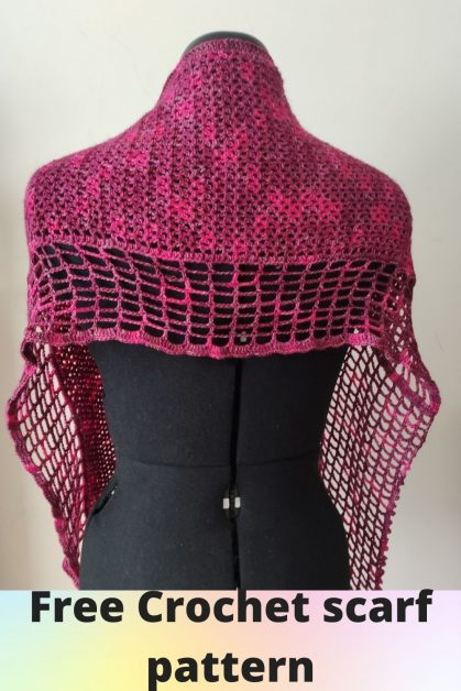 Jasmine free crochet Scarf Pattern