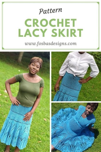 Tulip crochet lace skirt pattern