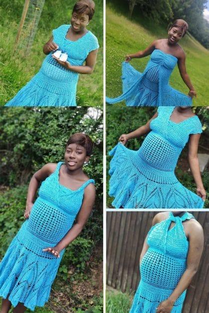 Tulip crochet Convertible dress pattern