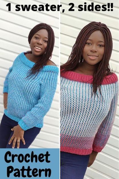 Easy crochet sweater pattern